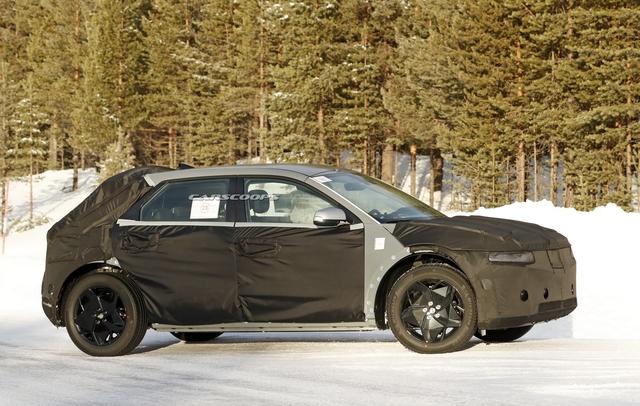 Hyundai 45 - Đàn anh Kona chạy điện với thiết kế đầu siêu dị đã lăn bánh trên đường, hứa hẹn ngày ra mắt không còn xa - Ảnh 1.