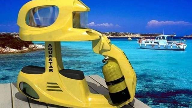 Khám phá chiếc xe máy đặc biệt có thể di chuyển dưới nước - Ảnh 4.
