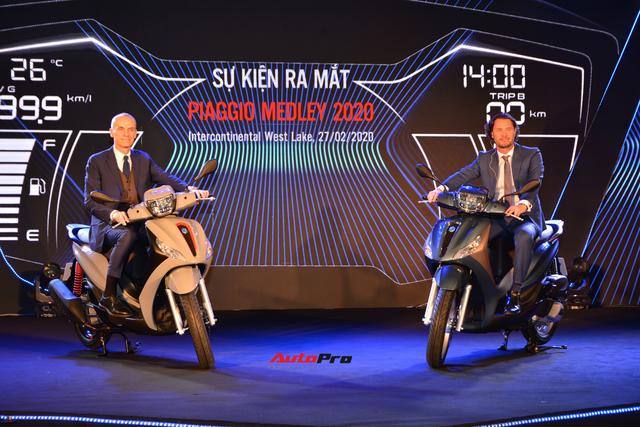 Ra mắt Piaggio Medley 2020 - Đấu Honda SH bằng giá bán từ 75 triệu đồng - Ảnh 1.