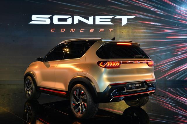 SUV mới Kia Sonet Concept chính thức chào sân: Thiết kế ấn tượng như Sorento nhưng chỉ bé ngang Morning - Ảnh 4.