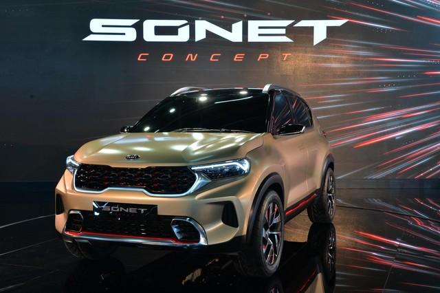 SUV mới Kia Sonet Concept chính thức chào sân: Thiết kế ấn tượng như Sorento nhưng chỉ bé ngang Morning - Ảnh 1.