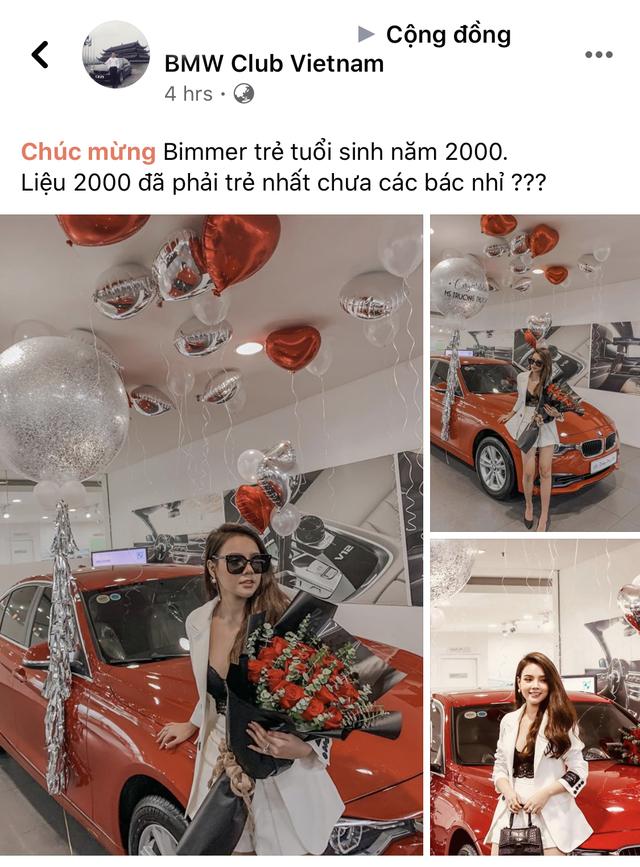 Hot girl Hà thành 19 tuổi sắm BMW 320i hơn 1,3 tỷ đồng, tuyên bố tự tặng bản thân trong thời gian tồi tệ nhất - Ảnh 1.