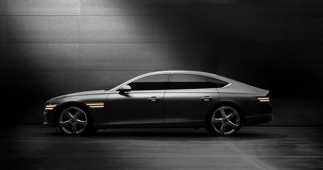 Genesis G80 tung loạt ảnh đầu tiên: Đẹp ngỡ ngàng, thách thức Mercedes-Benz E-Class, BMW 5-Series hay Lexus ES - Ảnh 1.