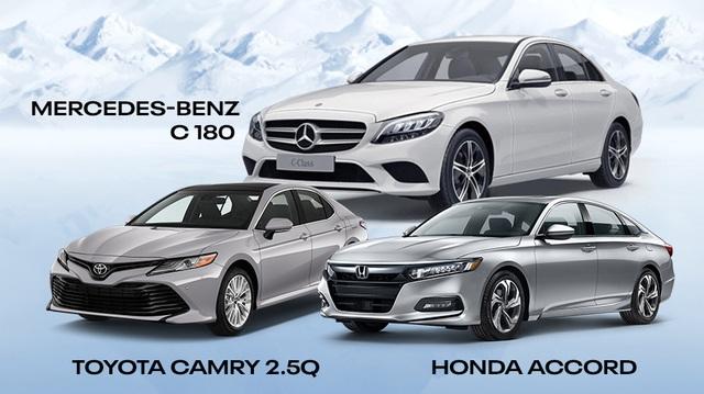 So găng Mercedes-Benz C 180 với Toyota Camry 2.5Q, Honda Accord: Xe sang Đức 'quốc dân' có gì để lấy khách của đối thủ Nhật?