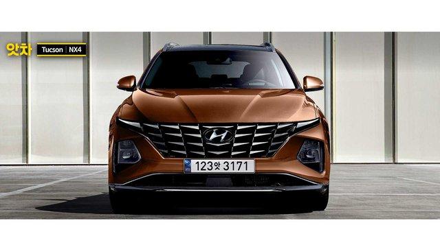 Xem trước Hyundai Tucson 2021: Thiết kế góc cạnh như siêu SUV Lamborghini Urus - Ảnh 1.