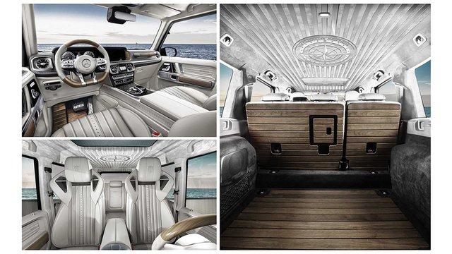 Mercedes-AMG G63 độ nội thất gỗ như siêu du thuyền - Cảm hứng mới cho đại gia Việt - Ảnh 4.
