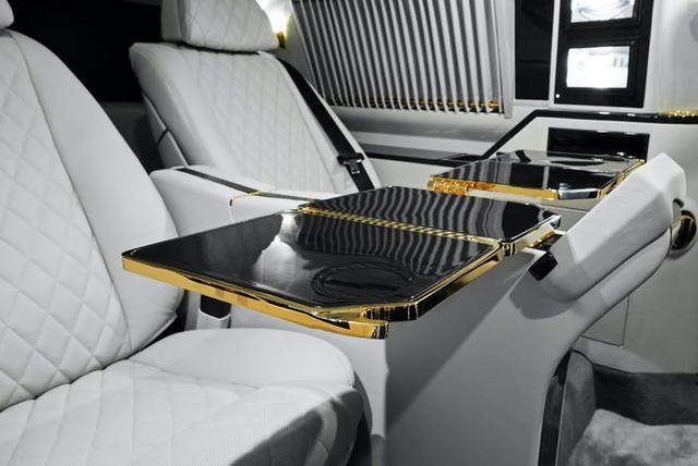 Cadillac Escalade ngoài bọc thép, trong dát vàng giá 500.000 USD cùng 5 bản độ chất ngất khác làm siêu lòng giới siêu giàu  - Ảnh 3.