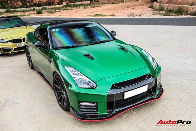 Hậu nâng cấp bodykit hàng hiệu, đại gia Bình Phước lột xác Nissan GT-R R35 với ngoại thất xanh lá - Ảnh 3.