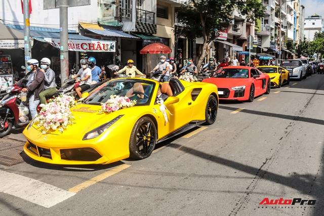 Dàn xe khủng giá không dưới 100 tỷ diễu hành rước dâu tại Sài Gòn - Ảnh 19.