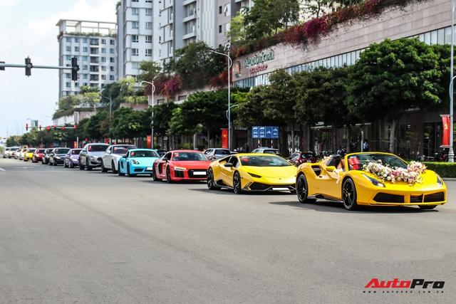 Dàn xe khủng giá không dưới 100 tỷ diễu hành rước dâu tại Sài Gòn - Ảnh 20.