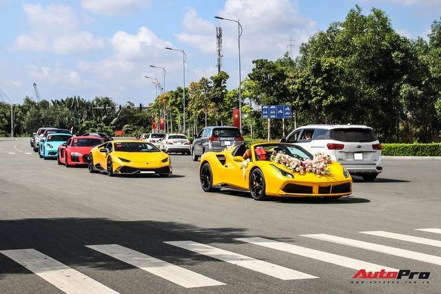 Dàn xe khủng giá không dưới 100 tỷ diễu hành rước dâu tại Sài Gòn - Ảnh 22.