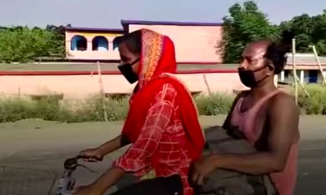 Bức ảnh bé gái 15 tuổi đạp xe 1.200 km đưa bố về quê nhà gây bão cộng đồng mạng, sự thật phía sau càng khiến mọi người vừa thương vừa nể phục - Ảnh 1.