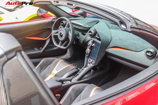 Cận cảnh siêu phẩm McLaren 720S Spider màu đỏ độc nhất Việt Nam  - Ảnh 7.