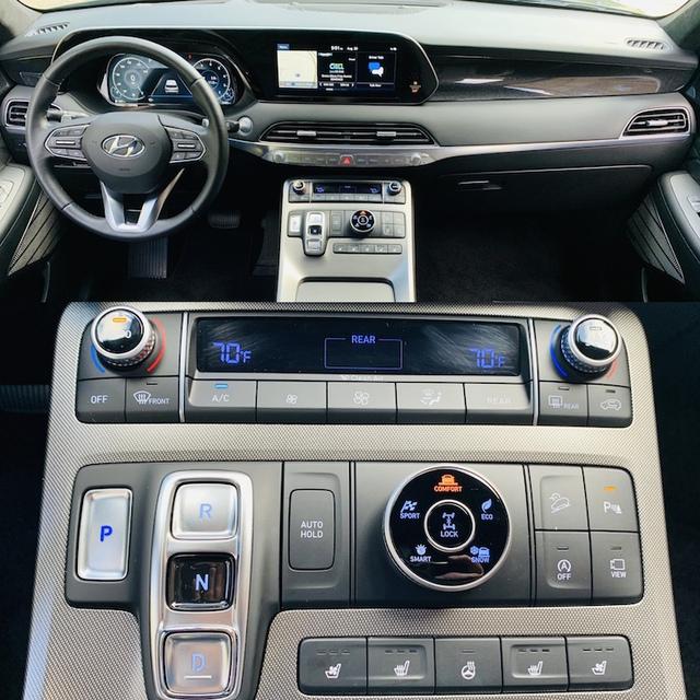 Hyundai Santa Fe phiên bản mới khoe trọn cụm điều khiển: Gây thất vọng vì không được như Palisade - Ảnh 3.