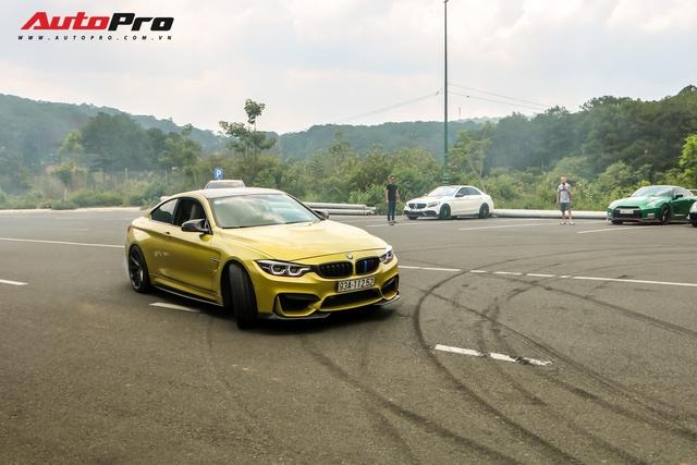 Dân chơi Bình Phước trổ tài drift trên chiếc BMW M4 trong chuyến đi cùng đại gia Hoàng Kim Khánh và Cường Đô La - Ảnh 2.