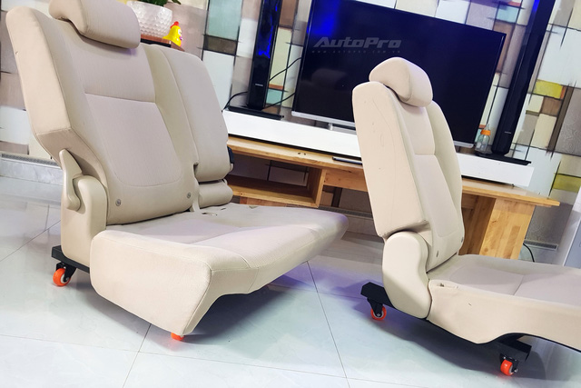 Người dùng Mitsubishi Xpander tự độ ghế sau với 2,6 triệu đồng và 3 tiếng: Trượt, ngả tùy ý, dư hẳn bộ ghế để phòng khách xem phim - Ảnh 5.