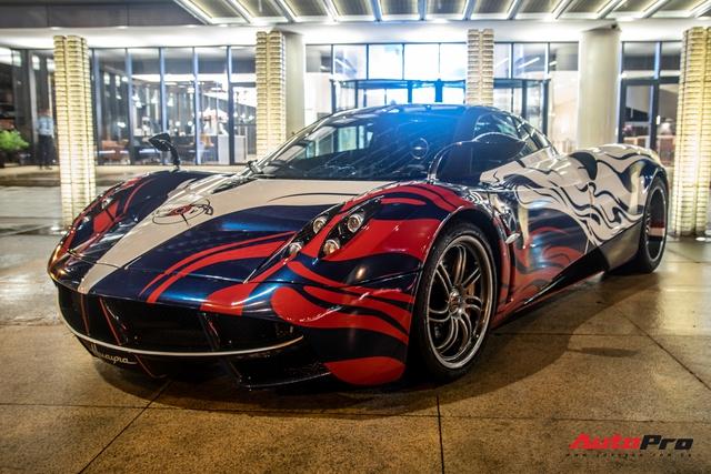 Vừa chốt mua Maserati Levante Trofeo, Minh nhựa mang Pagani Huayra đánh bóng mặt đường đêm - Ảnh 3.