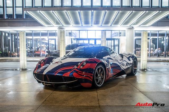 Vừa chốt mua Maserati Levante Trofeo, Minh nhựa mang Pagani Huayra đánh bóng mặt đường đêm - Ảnh 6.