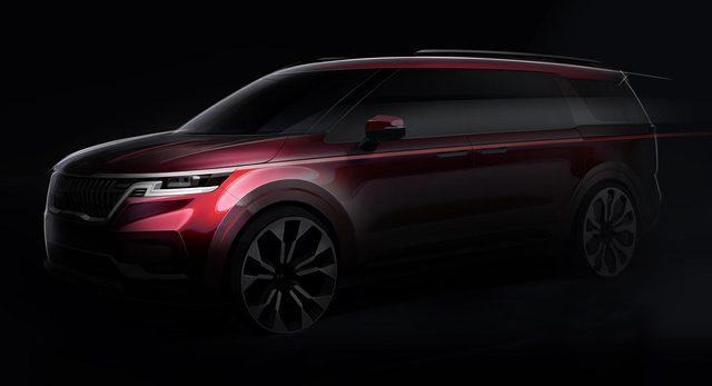 Kia Sedona thế hệ mới lần đầu lộ ảnh chính hãng: Rõ nét Range Rover, thiết kế kích thích hơn hẳn bản cũ - Ảnh 1.
