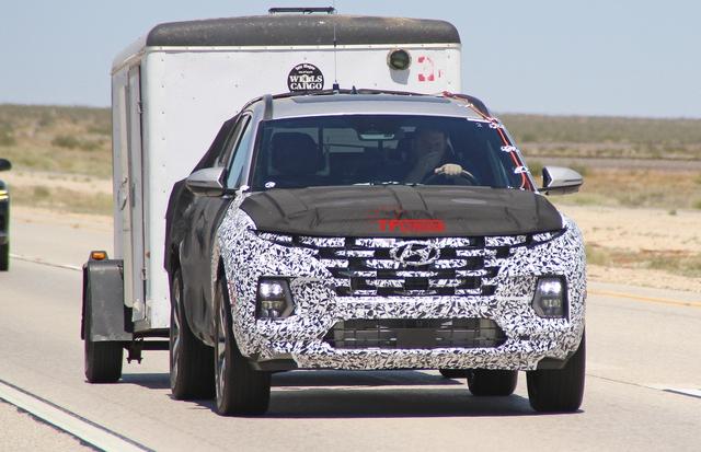 Hyundai Santa Cruz khéo khoe sức kéo trước ngày ra mắt - Ảnh 2.