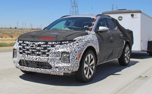Hyundai Santa Cruz khéo khoe sức kéo trước ngày ra mắt - Ảnh 1.