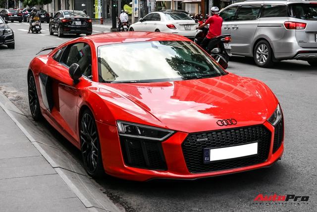 Audi R8 V10 Plus từng của ông Đặng Lê Nguyên Vũ bất ngờ xuất hiện tại Sài Gòn - Ảnh 2.