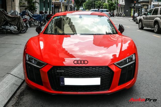 Audi R8 V10 Plus từng của ông Đặng Lê Nguyên Vũ bất ngờ xuất hiện tại Sài Gòn - Ảnh 3.