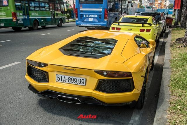 Lamborghini Aventador LP700-4 đầu tiên tại Việt Nam với biển số tứ quý 9 tái xuất trên phố Sài Gòn sau hơn một năm ẩn mình - Ảnh 5.