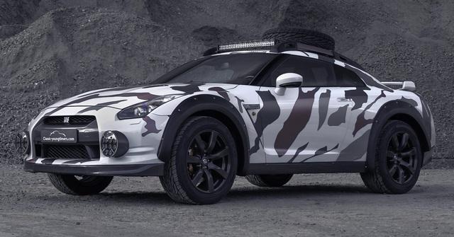 Nissan GT-R Godzilla 2.0 - Sedan lai SUV chuyên off-road mạnh 600 mã lực - Ảnh 1.
