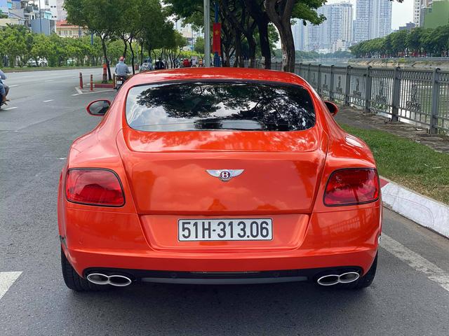 Sau 6 năm về nước, Bentley Continental GT V8 độc nhất Việt Nam lần đầu lột xác với lớp áo cam - Ảnh 3.