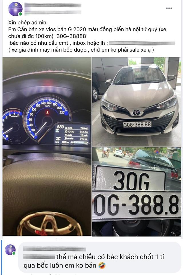 Bốc đc biển tứ quý 8, chủ Toyota Vios tại Hà Nội bán lại giá hơn 1 tỷ, khẳng định khách chốt 1 tỷ lấy luôn còn không bán - Ảnh 2.