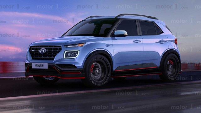 Xem trước thiết kế Hyundai Venue N - SUV nhỏ hiệu suất cao đầu tiên của Hàn Quốc - Ảnh 1.