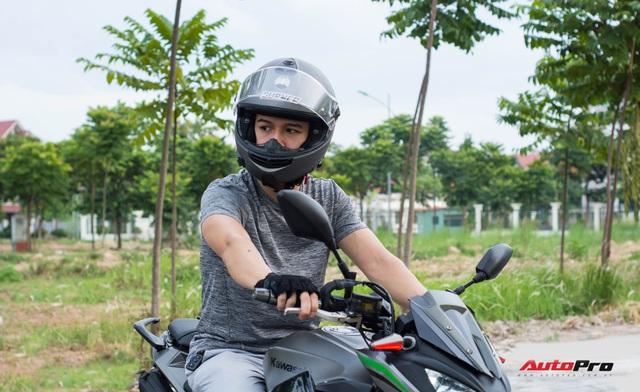Tự độ xe tới quen bị cắt vào tay, ốc bắn vào mặt, tay chơi công nghệ đánh giá Kawasaki Z300: Hợp người lên đời từ xe côn tay 150cc - Ảnh 6.