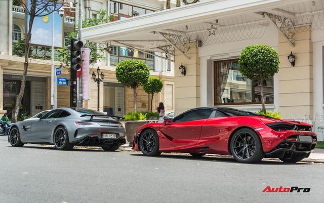 Doanh nhân Nguyễn Quốc Cường lần đầu cầm lái Mercedes-AMG GT-R lên phố, hội ngộ cùng siêu xe McLaren 720S Spider - Ảnh 2.