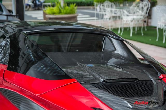 McLaren 720S Spider màu đỏ độc nhất Việt Nam đến nay mới ra biển số: Dãy số gánh và lộc phát gây chú ý - Ảnh 5.
