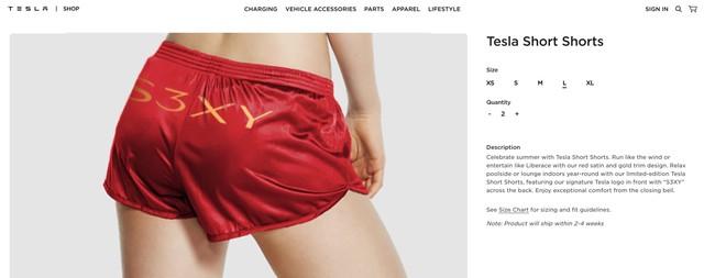 Không đùa đâu: Tesla bán quần đùi giá hơn 1,5 triệu đồng nhưng ý nghĩa sau đó không phải ai cũng biết - Ảnh 2.