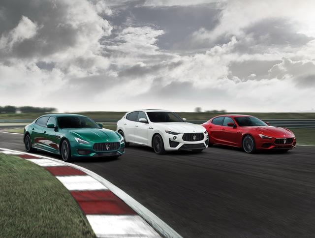 Maserati bổ sung đội hình Trofeo mạnh mẽ nhất bằng Ghibli, Quattroporte mới - Ảnh 1.