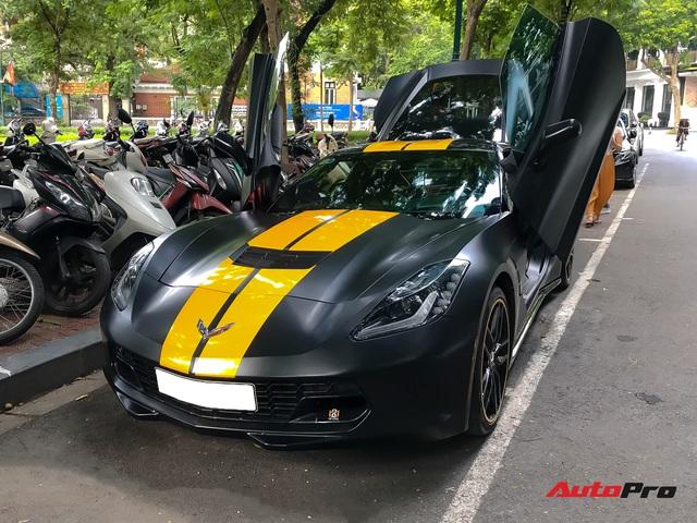 Chevrolet Corvette C7 của dân chơi Hà thành độ cửa cắt kéo giá gần 100 triệu đồng như siêu xe Lamborghini - Ảnh 2.