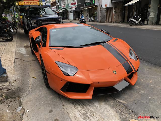 Cận cảnh Lamborghini Aventador LP700-4 độ hệ thống ống xả ngàn đô tại Sài Gòn - Ảnh 3.