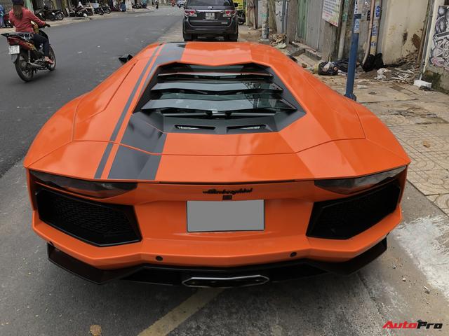 Cận cảnh Lamborghini Aventador LP700-4 độ hệ thống ống xả ngàn đô tại Sài Gòn - Ảnh 6.