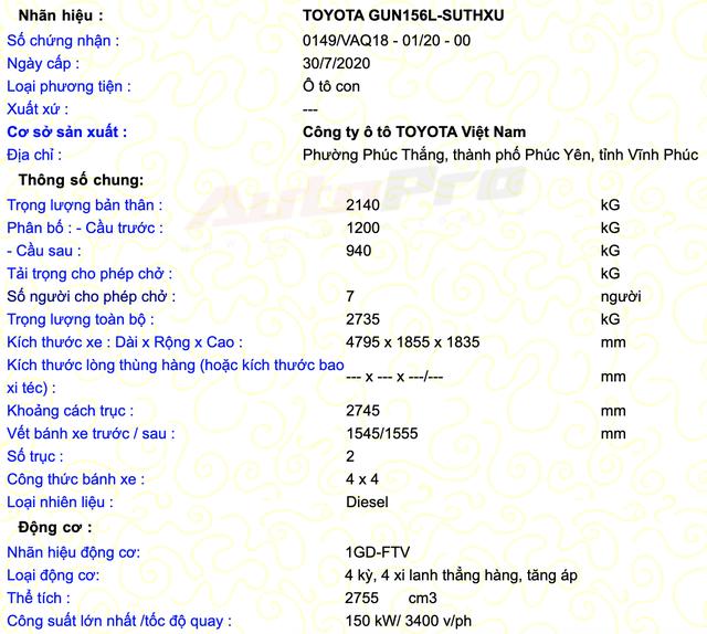 Lộ thông số Toyota Fortuner 2021 sắp bán tại Việt Nam: Động cơ mạnh, lắp ráp trong nước, quyết lấy lại ngôi vua SUV 7 chỗ - Ảnh 2.