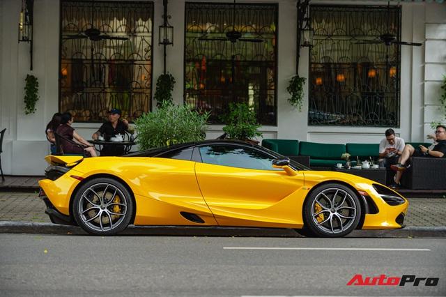 McLaren 720S Spider màu vàng đầu tiên về nước bất ngờ xuất hiện tại Hà Nội sau một thời gian dài lăn bánh tại Sài Gòn - Ảnh 5.