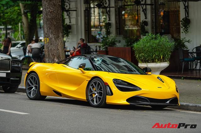 McLaren 720S Spider màu vàng đầu tiên về nước bất ngờ xuất hiện tại Hà Nội sau một thời gian dài lăn bánh tại Sài Gòn - Ảnh 1.