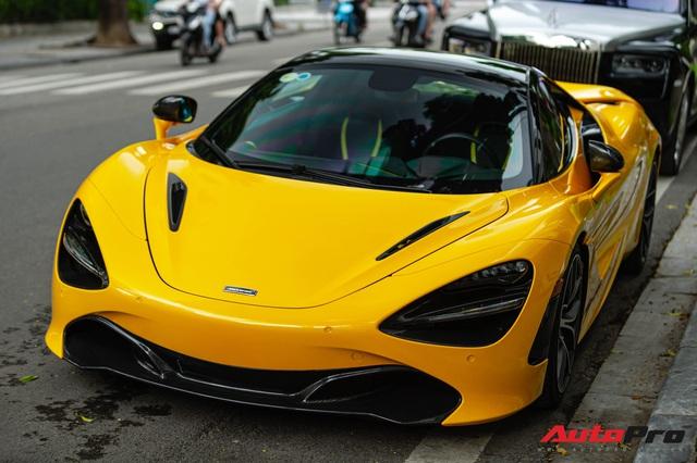 McLaren 720S Spider màu vàng đầu tiên về nước bất ngờ xuất hiện tại Hà Nội sau một thời gian dài lăn bánh tại Sài Gòn - Ảnh 3.