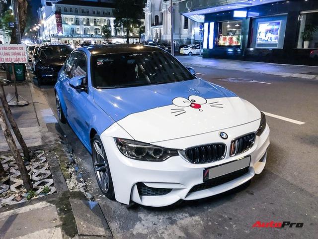 Dân chơi Sài Thành trang trí BMW M3 theo phong cách Doraemon không đụng hàng với bất kỳ ai - Ảnh 3.