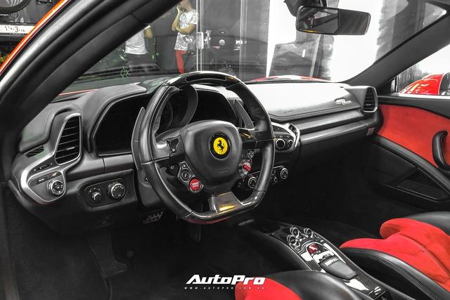 Soi nội thất siêu độc của Ferrari 458 Italia vừa về Việt Nam - Ảnh 5.