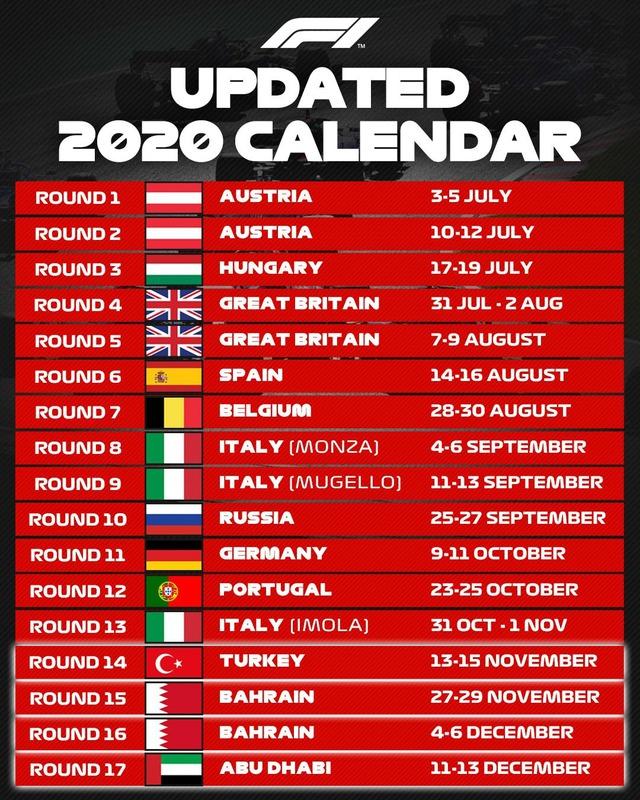 Ban tổ chức F1 bổ sung 4 chặng đua cho mùa giải 2020, vẫn chưa có tên Việt Nam - Ảnh 1.