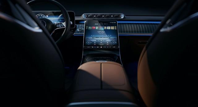 Lộ nội thất Mercedes-Benz S-Class 2021: 5 màn hình, điều khiển đều bằng cảm ứng - Ảnh 3.