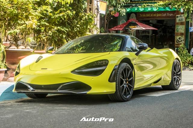 Cận cảnh McLaren 720S đầu tiên Việt Nam đổi màu neon chói loá - Ảnh 1.