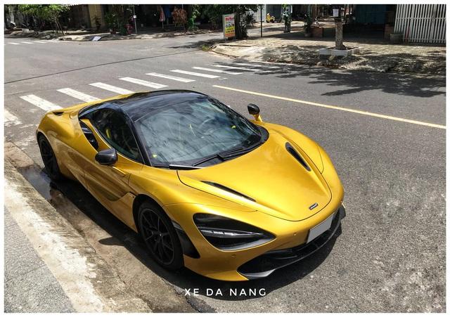 Siêu xe McLaren 720S Spider màu vàng đồng lăn bánh trên đường phố Đà Nẵng - Ảnh 8.